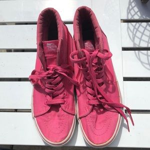 c29238c448 Vans Shoes - Limited edition High top solid pink Vans